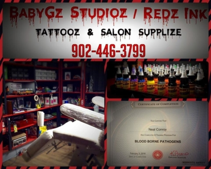 BabyGz Studio / Redz Ink - Tattooing Shops - 902-446-3799