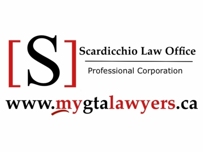 Scardicchio Law Office Professional Corporation - Personal Injury Lawyers - 647-607-7529