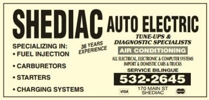 Shediac Auto Electric - Car Repair & Service - 506-532-2645