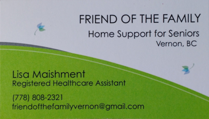 Friend of the Family Homecare Services - Home Health Care Service - 778-808-2321