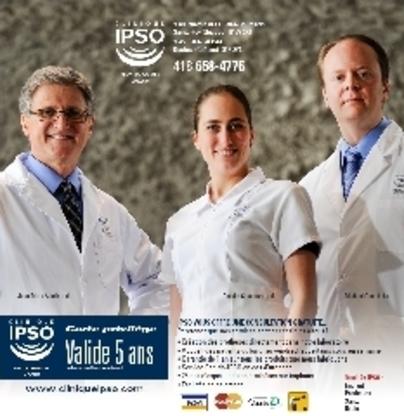Clinique IPSO Denturologistes - Traitement de blanchiment des dents