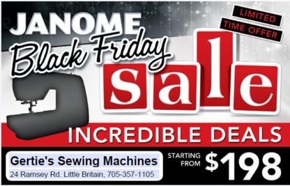 Gertie's Sewing Machine - Sewing Machine Stores - 705-357-1105
