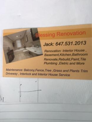 Blessing Renovations - Home Improvements & Renovations - 647-531-2013