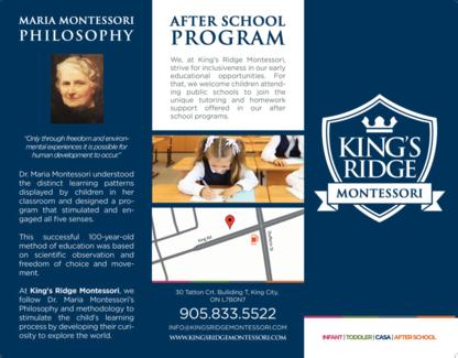 King's Ridge Montessori - Elementary & High Schools - 647-993-9313