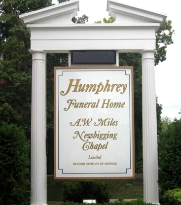 Humphrey Funeral Home A W Miles Newbigging Chapel Limited - Funeral Homes - 416-487-4523