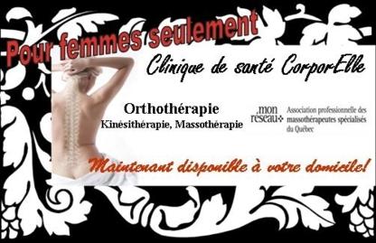 Sabrina Brosseau à domicile pour femmes - Orthothérapeutes - 514-883-0336