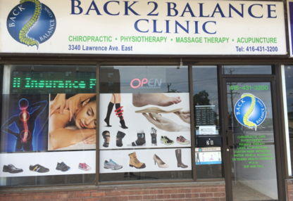 Back 2 Balance Eglinton Clinic - Rehabilitation Services - 416-752-3200