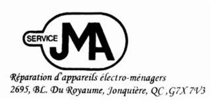 Ateliers Menager - Magasins de gros appareils électroménagers - 418-548-4440