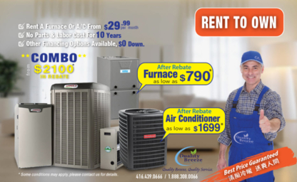 Quality Breeze Inc - Air Conditioning Contractors - 647-858-1166