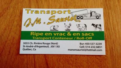 Transport JM Sauriol Enr - Transportation Service - 450-537-3239