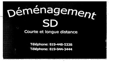 Déménagement SD - Déménagement et entreposage - 819-448-5338