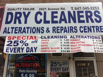 Quality Tailor & Cleaners - Dry Cleaners - 647-345-2253