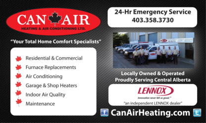 Can-Air Heating & Air Conditioning Ltd - Air Conditioning Contractors
