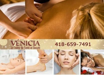 Vénicia, Centre de santé et de Beauté - Massothérapeutes - 418-659-7491