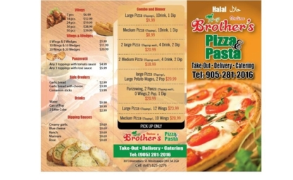 Brother's Pizza & Pasta - Italian Restaurants - 905-281-2016
