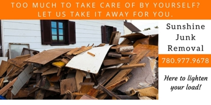 Sunshine Junk Removal Ltd - Residential Garbage Collection - 780-977-9678