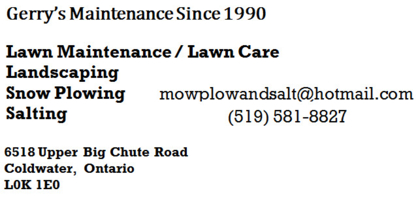 Gerry's Maintenance Since 1990 - Landscape Contractors & Designers - 519-581-8827