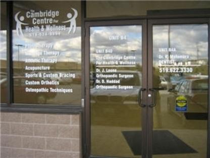 Cambridge Centre For Health & Wellness - Foot Care - 519-624-9994