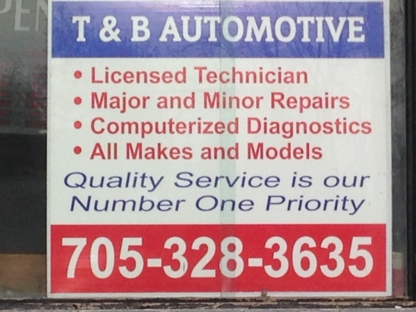 T & B Automotive - Car Repair & Service - 705-328-3635