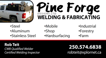 Pine Forge Designs Ltd. - Welding