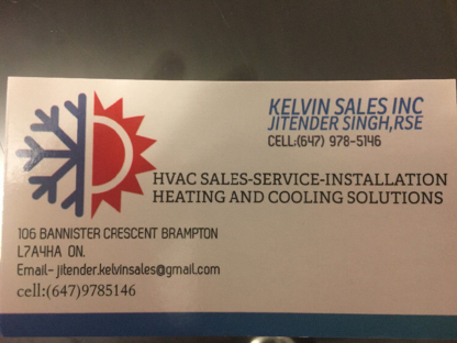 Kelvin Sales Inc - Air Conditioning Contractors - 647-978-5146