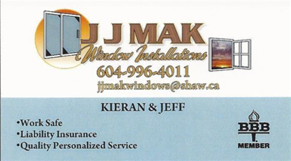 JJMAK Window Installations - Window Repair - 604-996-4011
