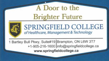 Springfield College Of Healthcare - Tutoring - 905-216-1600