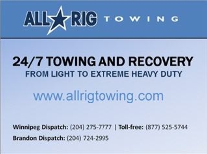 AllRig Towing Service Ltd - Vehicle Towing - 204-275-7777