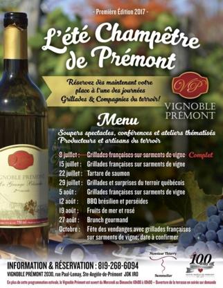 Vignoble de Prémont - Wineries - 819-268-6094