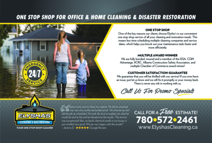 Elysha's Cleaning & Restoration - Janitorial Service - 780-590-3277
