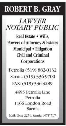 Gray Robert B - Lawyers - 519-882-0132
