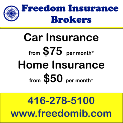Freedom Insurance Brokers Inc - 416-278-5100