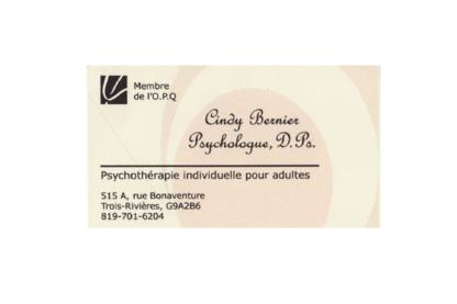 Cindy Bernier Psychologue - Psychologists - 819-701-6204