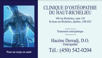 Clinique d'Ostéopathie Hacène Derradj - Massage Therapists - 450-542-0204