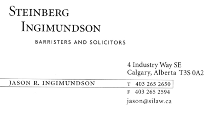 Steinberg Ingimundson - Business Lawyers - 403-265-2650