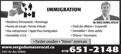 Dumas Serge Me - Avocats en droit immobilier - 418-651-2148