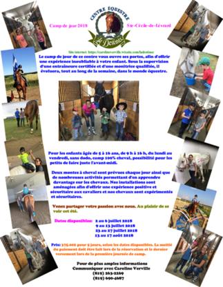 Centre Équestre La Destinée - Centres équestres - 819-263-2269