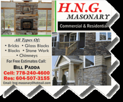 HNG Masonry - Masonry & Bricklaying Contractors - 778-240-4600