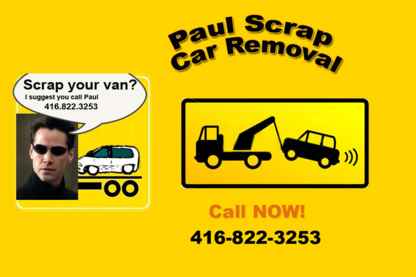 Paul's Scrap Car Removal - Car Wrecking & Recycling - 416-822-3253
