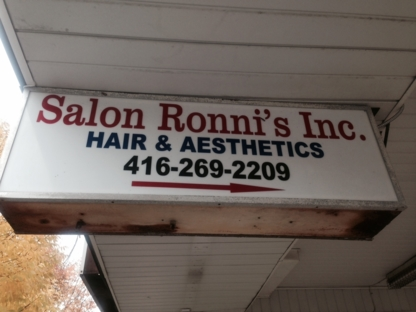 Salon Ronni's Inc - Eyebrow Threading - 416-269-2209