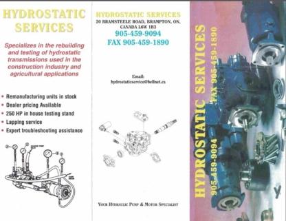 Voir le profil de Hydrostatic Services - Halton Hills