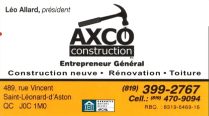 Axco Construction Inc - Entrepreneurs généraux