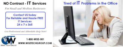 Wise Tech Group Inc. - Computer Consultants - 1-855-947-3001