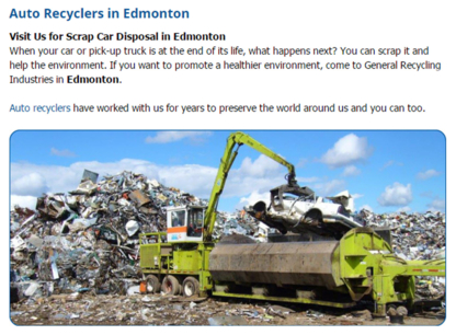 View A A A Scrap Metals's Edmonton profile