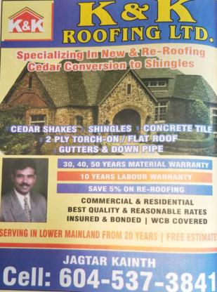 K & K Roofing - Roofers - 604-537-3841