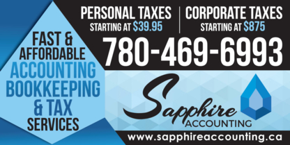 Sapphire Accounting Services Inc - Comptables