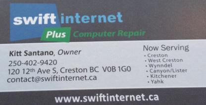 Swift Internet - Fournisseurs de produits et de services Internet - 250-402-9420