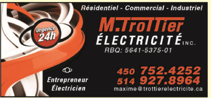 View M.trottier Electricité Inc's Saint-Jean-de-Matha profile