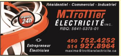 View M.trottier Electricité Inc's Saint-Jean-de-Matha profile