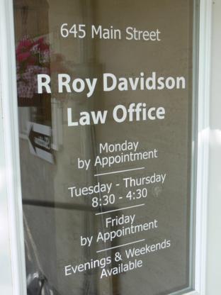 R Roy Davidson Law Office - Lawyers - 403-627-3013